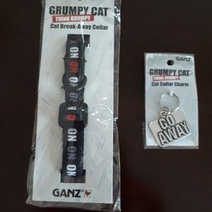 """Grumpy"" Cat Collar & Charm"